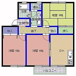 ランハイツ A棟[103号室]の間取り