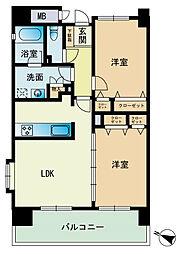 エコルクス赤坂II[9階]の間取り