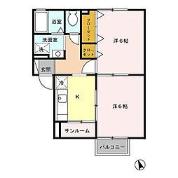 Centre・Y(サントル・ワイ) B[202号室]の間取り