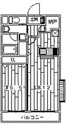 神奈川県川崎市麻生区片平3丁目の賃貸マンションの間取り