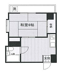 新宿駅利用可 メゾン呉羽[401号室]の間取り