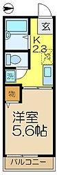 シティハイムカトレアA[1階]の間取り