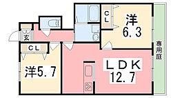 MASTCOURT加古川南C棟[1階]の間取り