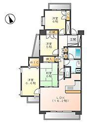 レジディア徳川[2階]の間取り