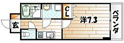 U-Basic reef 三萩野[4階]の間取り