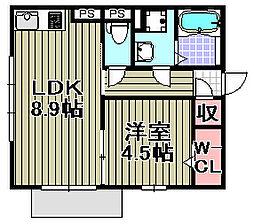 グランド関空[A101号室]の間取り