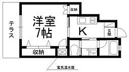 ルシアコート桜園[0100号室]の間取り