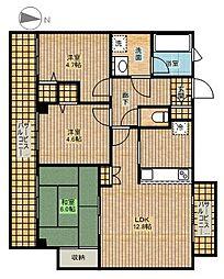 ラビータ新城[3階]の間取り