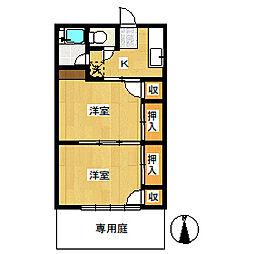 コーポ幹[1階]の間取り