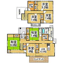 [一戸建] 長野県松本市大字里山辺 の賃貸【/】の間取り