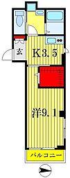 カサリージュプルミエ[2階]の間取り