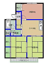 ユーハイム B棟[2階]の間取り