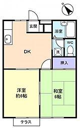 杉田コーポ[1階]の間取り