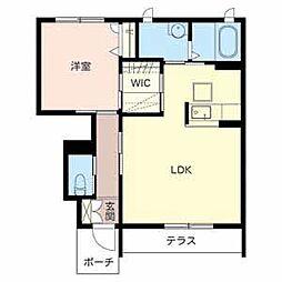 和歌山県和歌山市矢田の賃貸アパートの間取り
