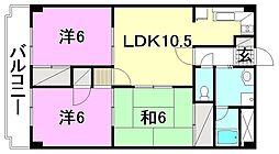 ロイヤルアネックス土居田[305 号室号室]の間取り