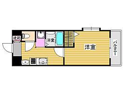 アリエス室見[1階]の間取り