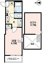 東京メトロ有楽町線 地下鉄赤塚駅 徒歩3分の賃貸アパート 3階1Kの間取り