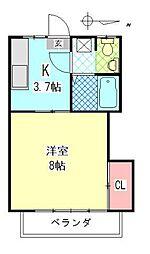 メゾン舞鶴[303号室]の間取り