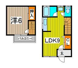 [テラスハウス] 埼玉県さいたま市桜区中島1丁目 の賃貸【/】の間取り
