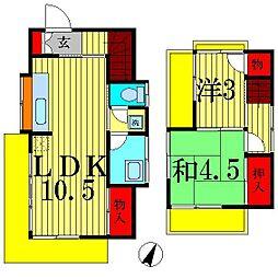[一戸建] 千葉県松戸市小金きよしヶ丘1丁目 の賃貸【/】の間取り