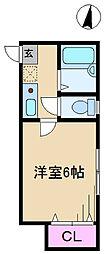 東京都北区東十条1丁目の賃貸アパートの間取り