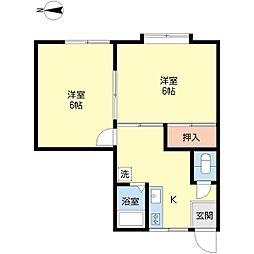 新潟県新潟市中央区神道寺1丁目の賃貸アパートの間取り