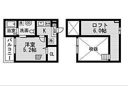 愛知県名古屋市緑区曽根2丁目の賃貸アパートの間取り
