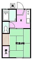 小田急ハイツ B棟[101号号室]の間取り