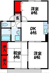 セジュール東山田II A[1階]の間取り