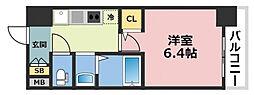 大阪府大阪市東成区大今里南2丁目の賃貸マンションの間取り