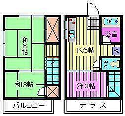 [テラスハウス] 埼玉県さいたま市大宮区堀の内町3丁目 の賃貸【/】の間取り