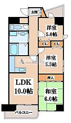 ラピュタクモン[4階]の間取り