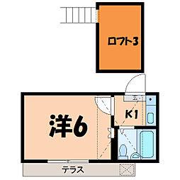 Let's上福岡[102号室]の間取り