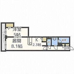 PRIME URBAN札幌リバーフロント[15階]の間取り
