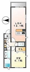 ファミール甲子園[3階]の間取り
