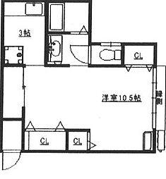 白木ハイツ[1階]の間取り