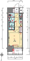 Osaka Metro千日前線 阿波座駅 徒歩5分の賃貸マンション 12階1Kの間取り