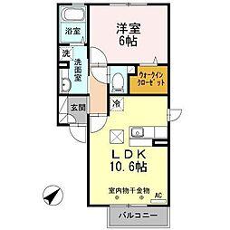 コモライズ新井田西A[1階]の間取り