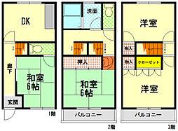 [テラスハウス] 兵庫県神戸市東灘区青木2丁目 の賃貸【/】の間取り