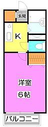 サザンクレール[1階]の間取り