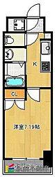 JR鹿児島本線 久留米駅 徒歩15分の賃貸マンション 4階1Kの間取り