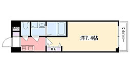 アーデン甲子園[604号室]の間取り