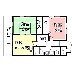 PLUS O2ビル[5階]の間取り