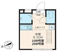 ideal戸越銀座[208号室号室]の間取り