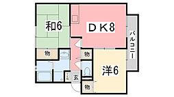 グランパルク福島[101号室]の間取り