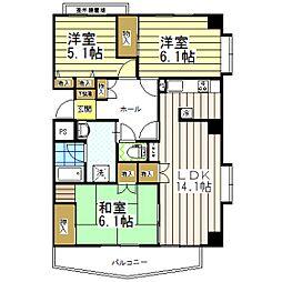 東京都葛飾区東金町2丁目の賃貸マンションの間取り
