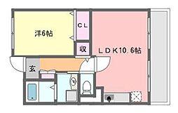 千葉県船橋市習志野4丁目の賃貸マンションの間取り