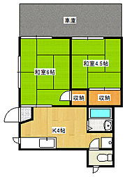 兵庫県神戸市垂水区霞ケ丘7丁目の賃貸アパートの間取り