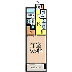 愛知県名古屋市西区菊井1の賃貸マンションの間取り