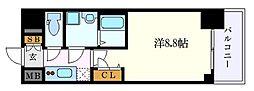 名古屋市営東山線 新栄町駅 徒歩1分の賃貸マンション 14階1Kの間取り